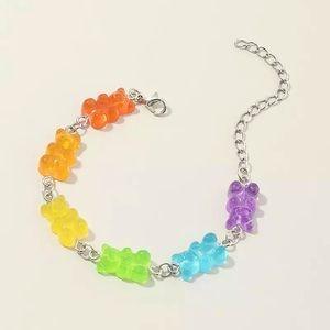 """Sugar High"" Gummy Bear Colorful Candy Bracelet"